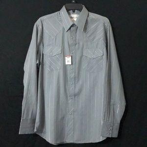 Wrangler Men's Wranchers Shirt Long Sleeve Snap